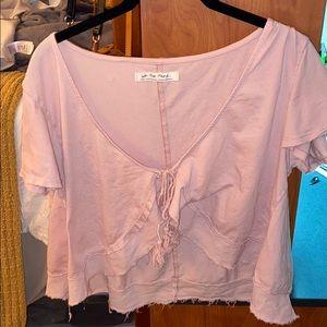 Pink Free People blouse